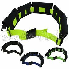 """Scuba BC Replaceable 5 Padded Pouch Weight Belt w/ 60"""" Webbing (Blue)"""