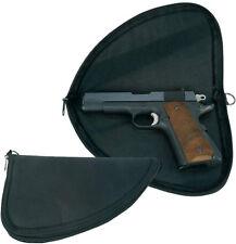 Soft Black Pistol Rugs Handgun Gun Bag Case Classic Safari Zippered