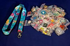 Disney World Pin Trading Lot Lanyard Starter Alice in Wonderland Cheshire 25 Pin