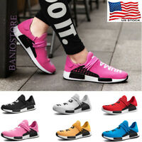 Womens Sneakers Mesh Canvas Casual Shoes Running Breathable Sport White Pink S13