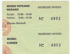 Biglietto d'ingresso Museo Vetrario Murano - (a)