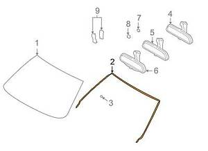 GENUINE BMW E39 5-Series Glass Windshield Moulding Trim Seal OEM 51318159784