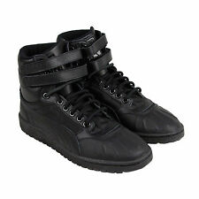 Puma Sky II Hi Duck Boot Mens Black Leather High Top Lace Up Sneakers Shoes