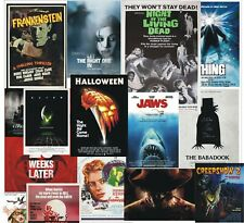 Horror Movie Posters A3 A4 Size Film Wall Art Photo Print, Home Decor