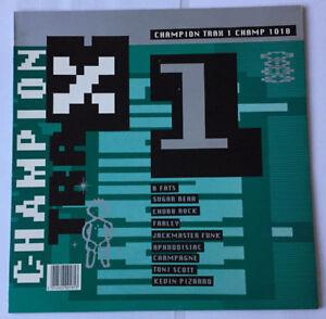 CHAMPION TRAX 1 - CHAMP 1018 - 8 TRACK COMPILATION LP - 1989 CHAMPION RECORDS UK