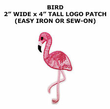 ID 1626 Flamingo Bird Animal Embroidered Iron On Applique Patch