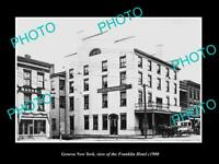 OLD LARGE HISTORIC PHOTO OF GENEVA NEW YORK, VIEW OF THE FRANKLIN HOTEL c1900