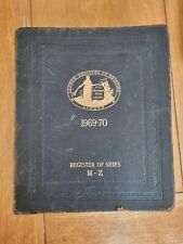 More details for lloyd's register of shipping- 1969-70 vol (m-z) leather bound free uk p&p