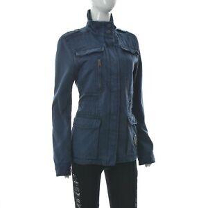 Peak Performance Femmes Ally J Militaire Veste Vintage Cargo Poche Avant Coat M