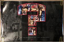 Original Vintage Poster Nike Michael Jordan Chicago Bulls Pin Up Collage 1995