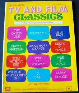 THEMES FROM TV & FILM CLASSICS PIANO SHEET MUSIC BOOK 3RD EDITION (1976) ENGLAND