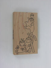 Christmas Rubber Stamp Candy Cane Gang 5""
