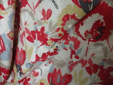 Romo Zamera Fabric 4m Remnant Cushion Upholstery Curtain Modern Floral Red
