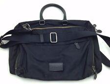 $760 COACH Mens SLIM Business Briefcase WORK TRAVEL BLACK BRIEF NYLON BAG