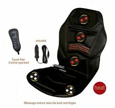 Heated Massage Chair Back Seat Remote Control Cushion for Car Van Relaxing