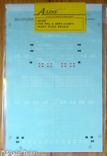 A-Line HO #27807 Decal Sheet for: COE Rail & GBRX (4-Unit) Husky Stack