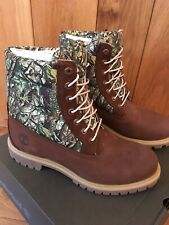 """Mens Timberland Premium 6"""" Quilted Puffer Boots Browm Nubuck Uk Size 10"""