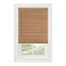 "Cordless Window Minds Mini Blinds 1"" Slats Woodtone Vinyl Blind"