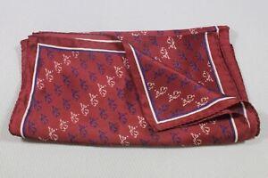 "DERKS STAR BUSMANN men's silk scarf 54""x11"" made in Italy"
