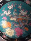 Vintage & very rare  , Collectable Japanese Decorative Plate Peacocks Flowers !!