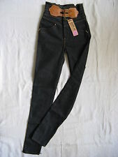 We Are Replay Ladies Jeans Stretch w27/l34 High Waist Slim Fit Pipe Corset Hip