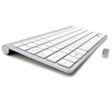 Mute 2.4G Ultra Slim Apple Mac Style Wireless English Keyboard USB Scissors Feet