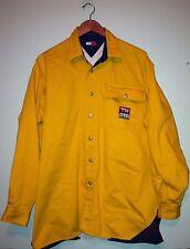 Men's Vintage 90's Tommy Hilfiger Sailing Gear Yellow Button Down Shirt Medium