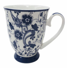 Blue Floral Tea/Coffee Mug - New Bone China