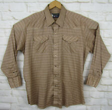 Panhandle Slim Mens Country Western Button Pearl Snap Shirt XL VTG USA MADE!