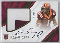 2017 Immaculate Collection Isaiah Ford Dolphins VA Tech Collegiate JSY AU /99