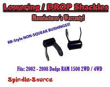 """2002 - 2008 Dodge Ram 1500 2"""" Drop Lowering Shackles 2WD /  4x4 NO SQUEAK!"""