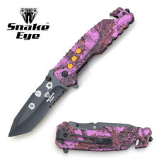 Snake Eye Tactical Purple Camo Handle Rescue Style Action Assist Folding Pocket