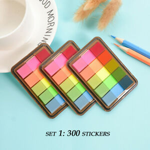 Assorted Color Fluorescent Memo Index Sticky Tabs/Notes, 4 Sets Available