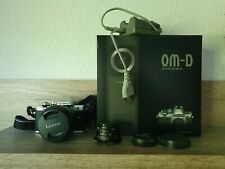 Olympus OM-D E-M10 Mark II  Lumix Vario F3.5-5.6 12-60 Objektiv 25mm F1.8 TOP!