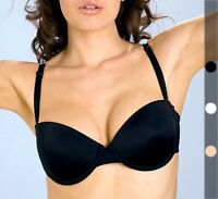 32 34 36 38 40 B C Multi-way ADD Two CUPS SIZES Padded Push Up Strapless Bra
