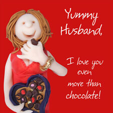 Yummy Husband Valentine's Day Greeting Card One Lump or Two Cards