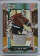 RARE 2008 DONRUSS LEGENDS PATRICK ROY RELIC CARD ~ MIRROR GOLD ~ 24/25 ~ HOCKEY