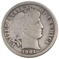 [#58317] UNITED STATES, Barber Dime, Dime, 1901, U.S. Mint, KM #113, VF(20-25)