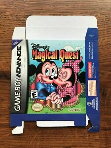 Disney's Magical Quest Gameboy Advance Game Boy Empty Box Only