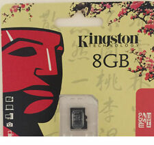 100% GENUIN Kingston 8GB Class 4 Advanced Micro SD SDHC MicroSD TF Memory Card