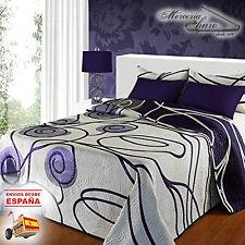 Colcha reversible estampada ARISCA malva y lila Textil PORTUGUES 90 135 150 180