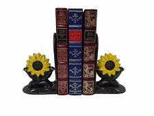Sujeta Libros Girasol Hechos a Mano en Hierro Forja  Medidas  14cm x 8cm.