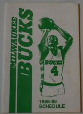 Original 1988-89 MILWAUKEE BUCKS Pocket Schedule HEILEMAN'S OLD STYLE