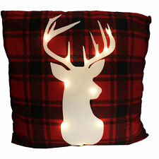 Large Light Up Christmas Cushion 60cm x 60cm - Stag Head
