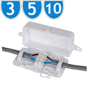 Electrical Junction Box 24A 240V 4 Pole Terminal Block Inline Wire Choc Box
