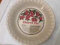 Collectible Decorative Ceramic Cherry Pie Dish