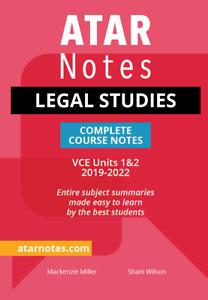ATAR Notes VCE Legal Studies Units 1&2 Notes