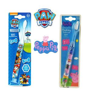 Kids   Flashing Tooth Brush Soft 2 Minutes Flashing Timer Peppa Pig,Paw Patrol