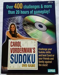 Sudoku DVD Game by Carol Vorderman - Parker Brothers
