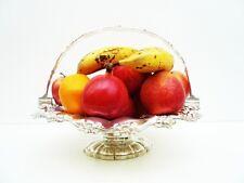 SILVER Cesto di frutta, Antico, Sterling, marcata 1854, JOSEPH & ALBERT Savory